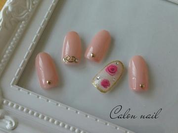 花柄nail