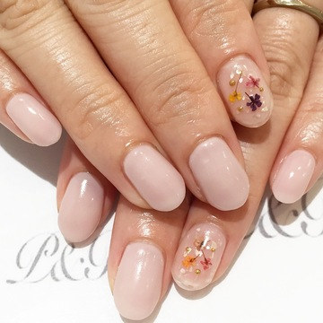 clear shellflower nail