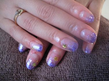 紫ラメグラ