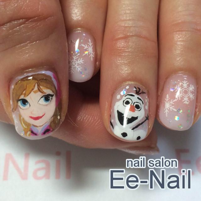 アナと雪の女王×雪の結晶ネイル / Ee,Nail (池袋ネイルサロン Ee